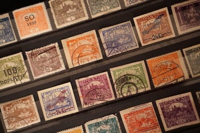 A collection of Hradcany stamps.