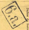 Bezirk stamp of type 01-a