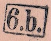 Bezirk stamp of type 01-b