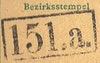 Bezirk stamp of type 100-a
