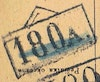 Bezirk stamp of type 100A-top