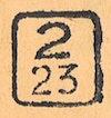 Bezirk stamp of type 2-boehmen-maehren