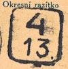 Bezirk stamp of type 4-boehmen-maehren