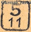 Bezirk stamp of type 5-slovakia