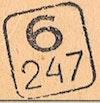 Bezirk stamp of type 6-slovakia