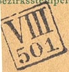 Bezirk stamp of type VIII-maehren